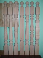 Деревянные опорные Столбы для лестницы из Дуба,  Бука.